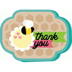 bee thank you card
