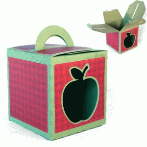 3d - handled box - apple