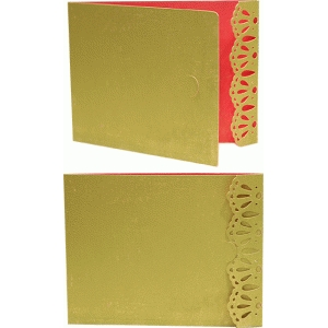 card a2 lace edge with flap