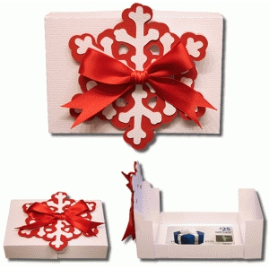3d snowflake gift card box