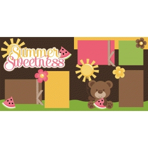 summer sweetness scrapbook pages kit