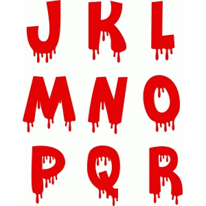 blood alphabet j-r