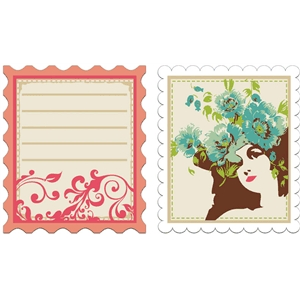 print & cut Parisian stamps #1