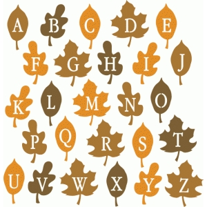 fall leaf alphabet - uppercase