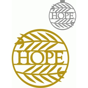 circle branch hope ornament