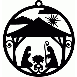 nativity ornament tag