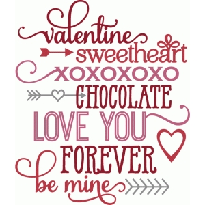 valentine words
