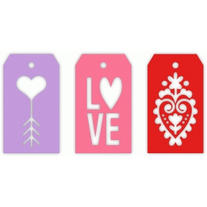 love note gift tags