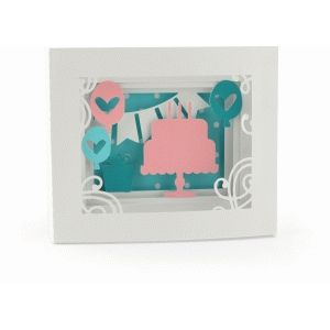 5x7 birthday shadow box card