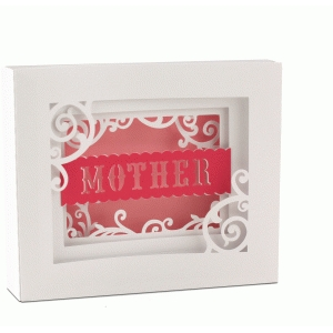 5x7 mother shadow box card