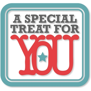 'a special treat for you' w/frame