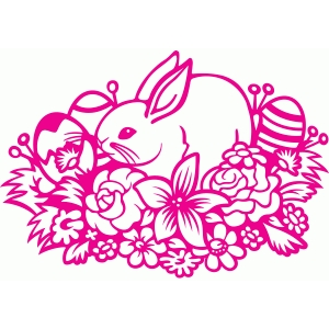 bunny flower patch