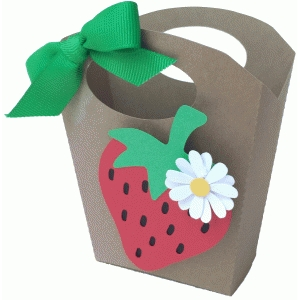 strawberry handled bag