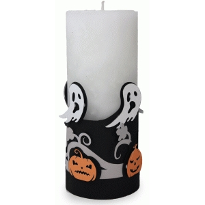 halloween pumpkin 3 layered candle wrap