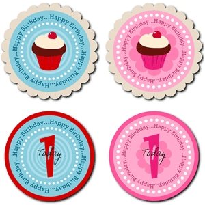 cupcake toppers first birthday - one