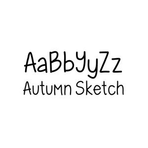 autumn sketch font