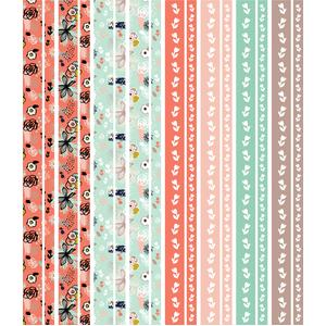 expressive floral washi tape stickers