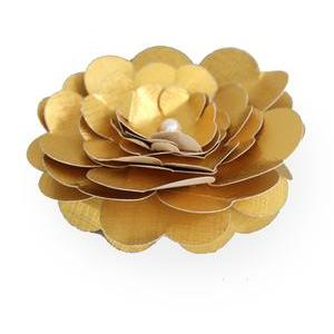 3d gold blossom flower