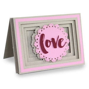 doily love shadowbox card