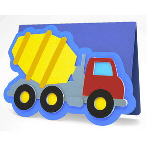 concrete mixer truck card