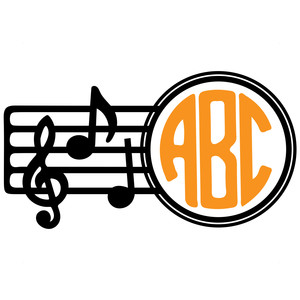 musical monogram frame