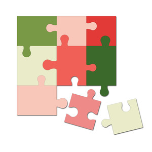easy cut activity puzzle 5 in. x 5 in.