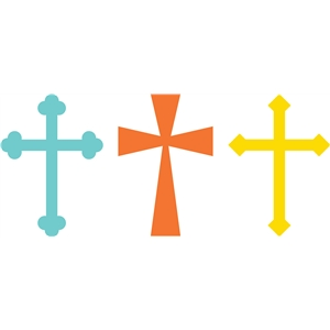 3 christian cross set