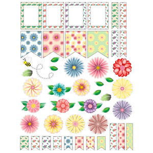 spring flowers planner stickers
