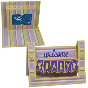 welcome baby step card