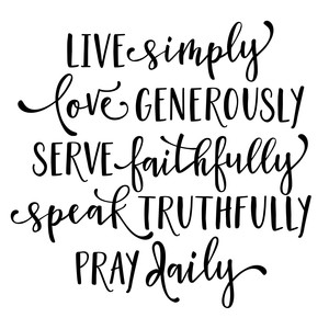 live simply pray daily list phrase