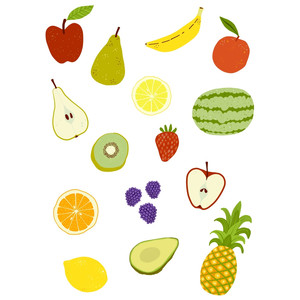 fruit planner stickers