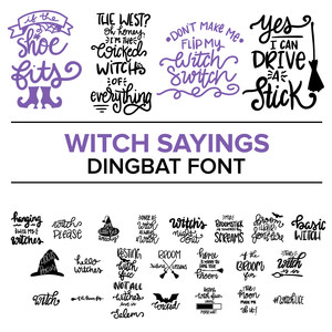 witch sayings dingbat font