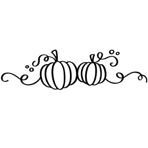thanksgiving pumpkin flourish