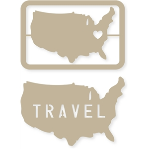 4x6 travel/united states journaling card