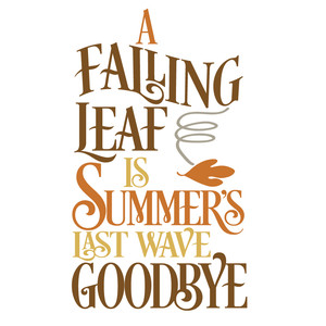 fall wave goodbye