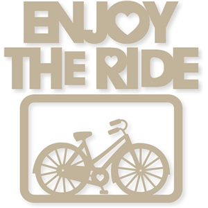 4x6 'enjoy the ride' heart bike