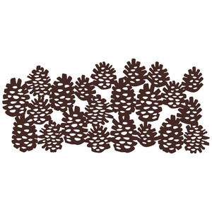 stacked pine cones repeating border