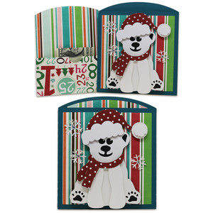 polar bear money/gift card envelope
