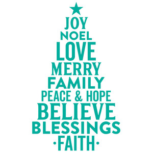 joy noel love hope ... tree