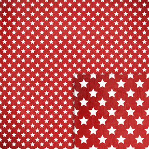 nautical red and white stars background paper