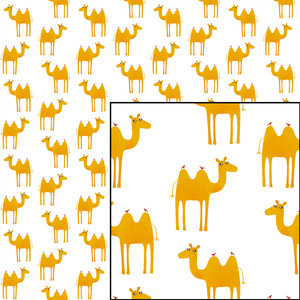 camels seamless pattern