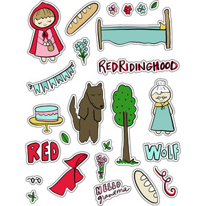 ml red riding hood stickers