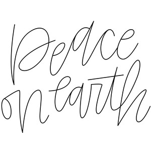 sketch handwritten peace on earth phrase