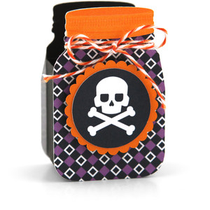 mason jar treat box  skull
