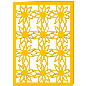 sunflower lace card