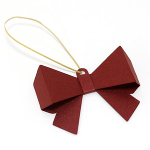 ribbon christmas tree pendant