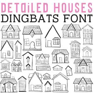cg detailed houses dingbats