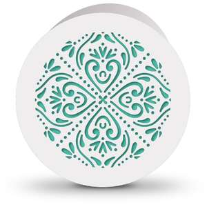 circle card flourish pattern