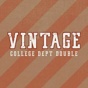 vintage college dept double