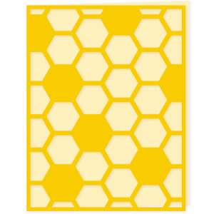 beehive hexagon card